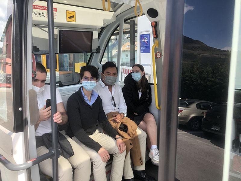 Le Régent International School Swiss Boarding School Autonomous Buses visit